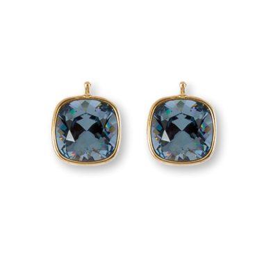 Einhänger Swarovski-Kristall Dunkelblau Gold