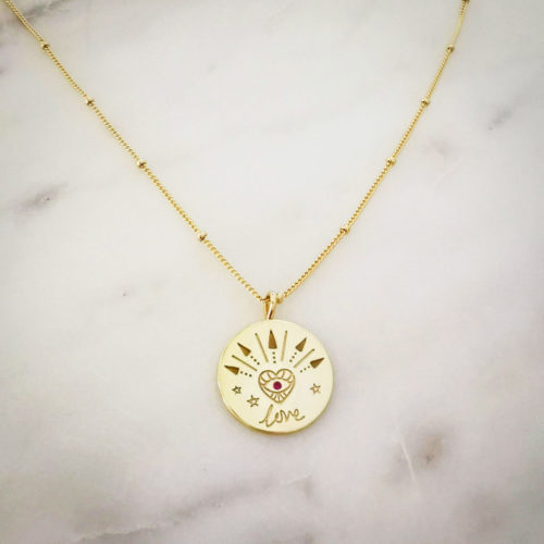 Fourth-Dimension-Halskette-Love-Gold