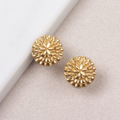 Ohrstecker Dandelion Medium Gold