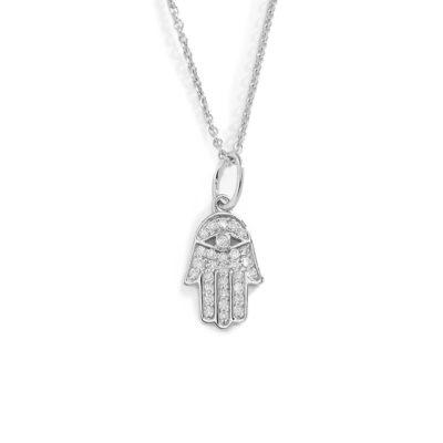 Halskette Hand Hamsa Silber