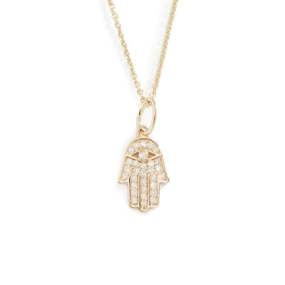 Halskette Hamsa Hand Gold