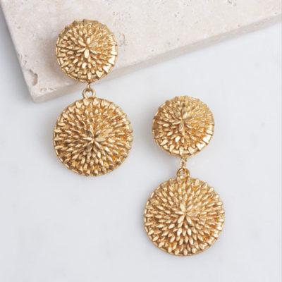 Ohrclip Dandelion Double Gold