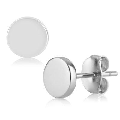 Ohrstecker Disk Silber