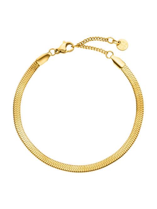 Schlangen-Armband-wide-Gold-Fourth-Dimension