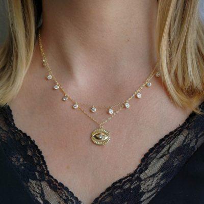 Halskette Auge Gold