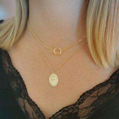 Halskette Toni T-Verschluss Gold