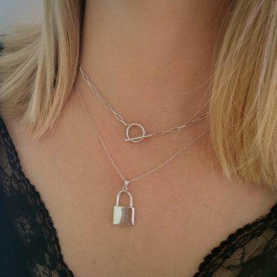 Halskette Toni T-Verschluss Silber