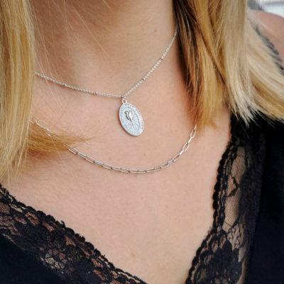 Halskette Rose Silber