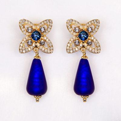 Ohrhänger Lavinia Muranoglas Blau