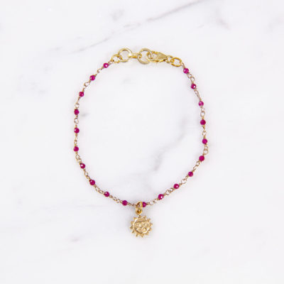 Armband Solana Pink Sonne Gold