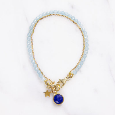 Armband Lulu Blau Lapis Gold