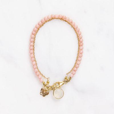 Armband Lulu Rosa Mondstein Gold