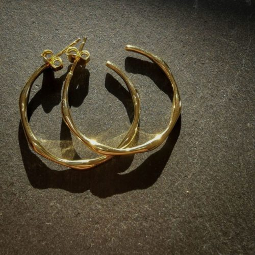 Bambus-Creole-Fourth-Dimension-Schmuck-Muenchen-Modeschmuck-Gold-Armband-Kette-Ohrring-Ohrclip
