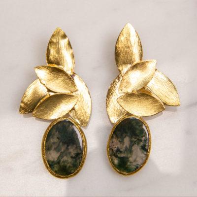 Ohrring Blossom Edelstein Gold