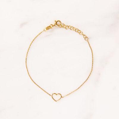 Armband Herz Gold