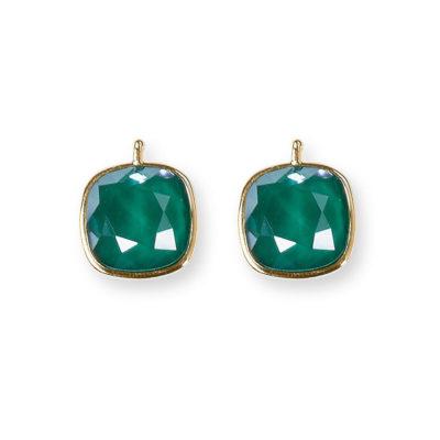 Einhänger Swarovski-Kristall Smaragd Grün Gold