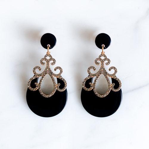 Fourth-Dimension-Ohrring-Gold-Silber-Schmuck-Muenchen-schwarz-Zisiliert-Swaovski-Kristalle