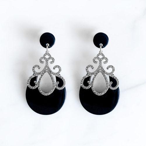 Fourth-Dimension-Ohrring-Gold-Silber-Schmuck-Muenchen-schwarz-Zisiliert-Swaovski-Kristalle-silber