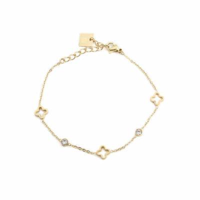 Armband Fleur Zirkonia Gold