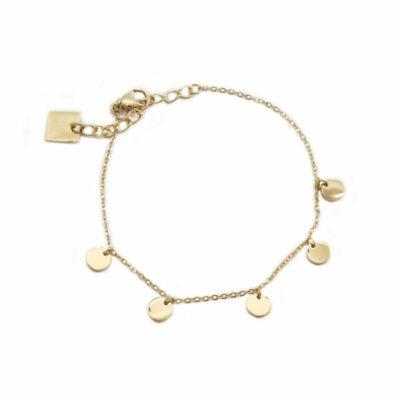 Armband Runde Anhänger Gold
