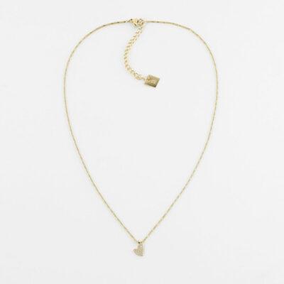 Halskette Mini Herz Zirkonia Gold