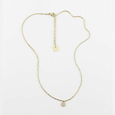 Halskette Kreis Mini Zirkonia Gold