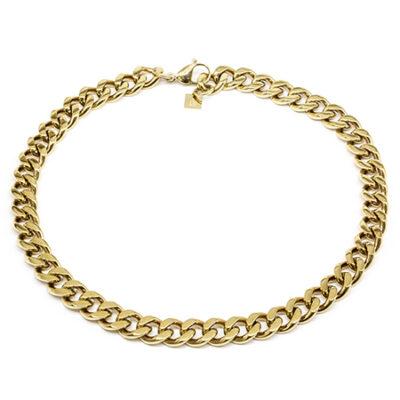 Halskette Flachpanzerkette Gold