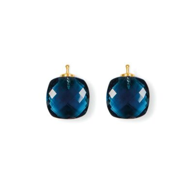 Briolett-Quadrat Einhänger Blau